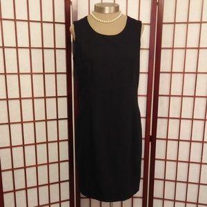 CLASSIC BLACK SLEEVELESS SHEATH DRESS